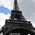 Eiffel Tower Tarped In Clouds II Paris France by John Shiron