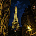 Eiffel Tower Twinkle At Night by Alissa Beth Photography