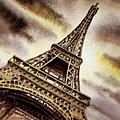 Eiffel Tower Vintage Beige by Irina Sztukowski