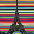 Eiffel Tower With Lines by Carla Bank