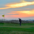 Eighteenth Green At Sunset by Catherine Sherman