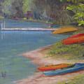Eighth Lake Canoes by Karen Pankow