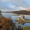 Eilean Donan Castle In Autumn by Maria Gaellman