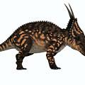 Einiosaurus Side Profile by Corey Ford