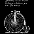 Einstein's Bicycle Quote - White by Custom Home Fashions
