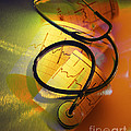 Ekg Stethoscope Composite by George Mattei