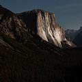 El Capitan In Moonlight At Yosemite by Toula Mavridou-Messer