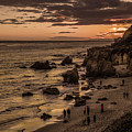 El Matador Beach At Dusk by Gene Parks