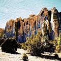 El Morro Cliffs by Jim Buchanan
