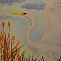 Elana - Egret by Maria Urso