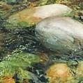 Elbow River Rocks 2 by Madeleine Arnett