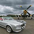 Eleanor Mustang With P51 by Gill Billington