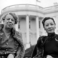 Eleanor Roosevelt And Madame Chiang by Everett