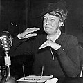 Eleanor Roosevelt At Hearing by Underwood Archives