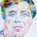 Eleanor Roosevelt - Watercolor Portrait by Fabrizio Cassetta
