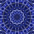Electric Blue Mandala by Thomas  MacPherson Jr