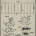 Electric Football Patent 1955 Aged Gray by Bill Cannon