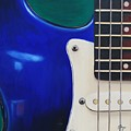 Electric Guitar In Blue by Emily Page