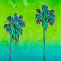 Electric Palm Trees II by Shari Warren