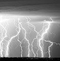 Electric Skies In Black And White by James BO  Insogna