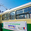 Electric Trolley Took Us To The Port In Valparaiso-chile  by Ruth Hager