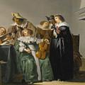 Elegant Company Making Music by Pieter Codde