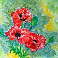 Elegant Poppies by Manjiri Kanvinde