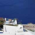 Elegant Restaurant In Santorini, Greece  by Oana Unciuleanu