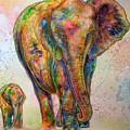 Elephant And Calf by Morgo Sladek