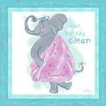 Elephant Bath Time Squeaky Clean by Shari Warren