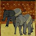 Elephant Calves by Thomas Tribby