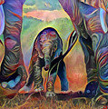 Elephant Delight 2 by Patty Vicknair