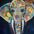 Elephant Mixed Media 2 by Reina Cottier