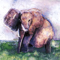 Elephant Poised by Arline Wagner