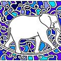 Elephant Rocker Blue Magoo by Peter Paul Lividini