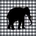 Elephant Silhouette by Linda Woods