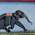 Elephant & Trainer, C1750 by Granger