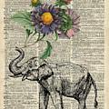 Elephant With Flowers by Anna W