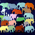 Elephants Going And Coming by Camilo Lucarini
