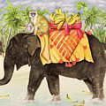 Elephants With Bananas by EB Watts