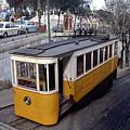 Elevador Da Gloria Funicular, Lisbon, Portugal, 1950's  by Wernher Krutein