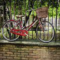 Elevated Red Bike by Jean Noren