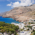 Elevated View Of The Hora Sfakion by Panoramic Images