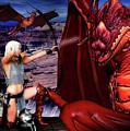 Elf Vs Dragon by Jon Volden