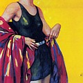 Elida Cremes In Sonne Und See - Woman In Swimsuit - Vintage Advertising Poster by Studio Grafiikka
