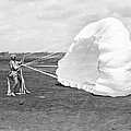 Elinor Smith Parachutes by Underwood Archives
