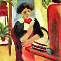 Elisabeth At Her Desk 2 By August Macke by August Macke