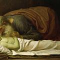 Elisha Raising The Son Of The Shunamite by Frederic Leighton