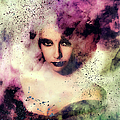 Elizabeth Taylor Grunge Abstract Realism by Isabella Howard