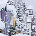 Elk Avenue Snow by Dusty Demerson
